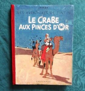 HERGE-TINTIN-LE-CRABE-AUX-PINCES-D-OR-1942-DOS-ROUGE