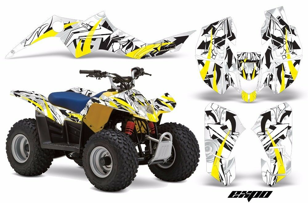 Atv Grafik Kit Quad Sticker für Suzuki Ltz50 Ltz50 Ltz50 2006-2009 Expo Gelb 5819db