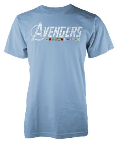 Marvellous Avengers Word Cloud Symbols Adult T Shirt