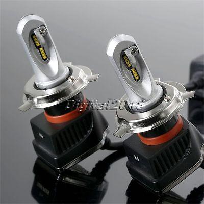 2x H4 160W 16000LM LED Headlight PHILIPS Chip Kit High Low Beam Bulb 6000K White