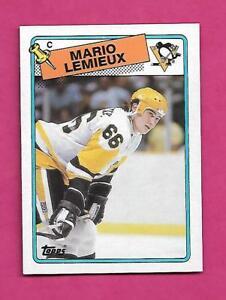 1988-89-TOPPS-1-PENGUINS-MARIO-LEMIEUX-NRMT-MT-CARD-INV-A8650