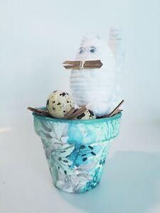 QUAIL/'S EGG Ceramics Pale Blue Tea Light Holder Home Decor Gift Idea Brand New