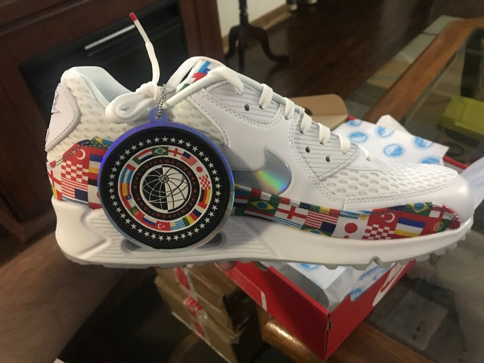 Air Max 90 EM NIC Pack / AO5119-100 / Men's NK AM White Multi International Flag The most popular shoes for men and women