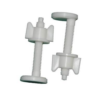 Screws Seat with Basin 2 x Toilet Lid /& Seat Plastic Nut and Bolt Pan
