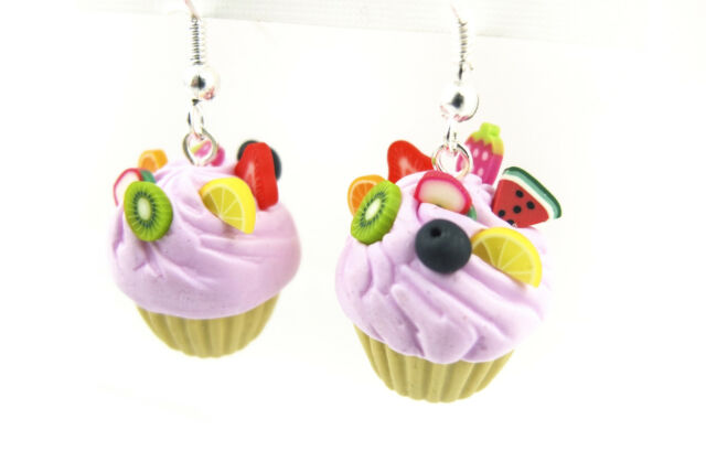 1 Paar Süße CUPCAKES Kuchen muffin sweet  süßes candy food kawaii fimo polymer c