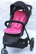PRAM / BUGGY LINER - Polka dot white-pink- JUST LINER