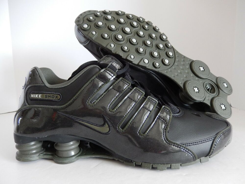 MEN'S KHAKI NIKE SHOX NZ noir-CARGO KHAKI MEN'S GREEN PATENT LEATHER SZ 8.5 [378341-045] d5a2eb