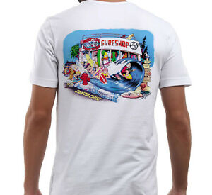 California Surfing West Side Surf Shop T Shirt White Tee