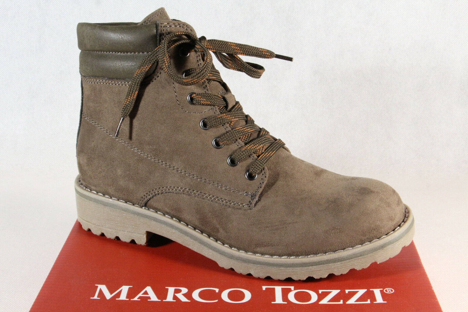 Marco Tozzi 26231 Women's Boots Ankle Boots Lace up Boots Khaki New