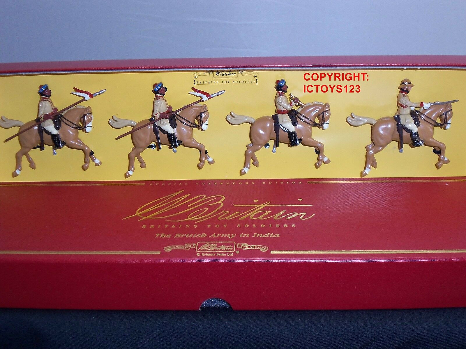 BRITAINS 8951 BRITISH ARMY 38TH CENTRAL INDIA HORSE METAL TOY SOLDIER FIGURE SET