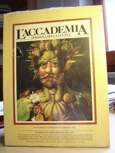 L'ACCADEMIA ITALIANA DELLA CUCINA  Mensile di cucina.   N.  1/1987
