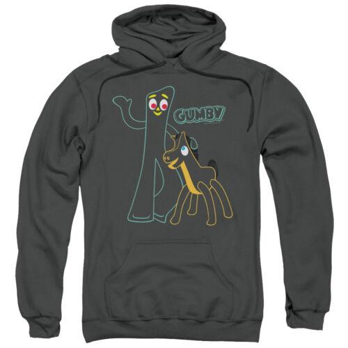 Gumby /& Pokey OUTLINES Licensed Adult Sweatshirt Hoodie
