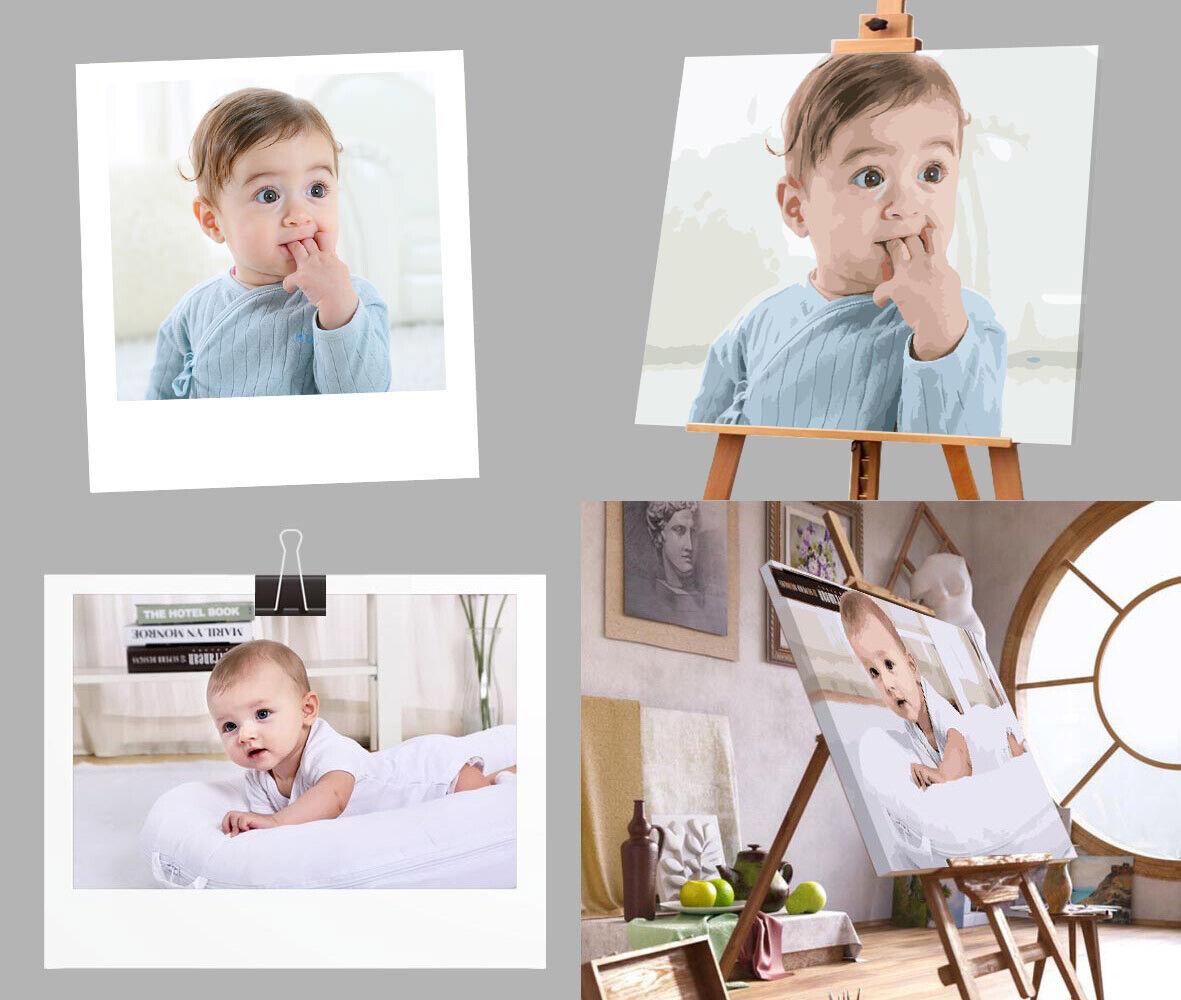 Malen nach Zahlen vom eigenen Foto Wunschmotiv Personalisierung Individuell Individuell Individuell e755d1