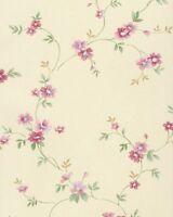 Pr33837 - Floral Prints 2 Floral Cream, Green & Pink Galerie Wallpaper