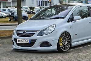 Sonderaktion Spoilerschwert Frontspoilerlippe Cuplippe aus ABS Opel Corsa D OPC