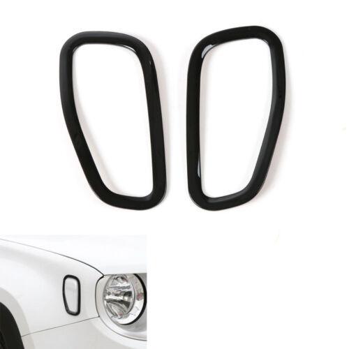 2x Black Car Front Side Fender Light Lamp Cover Trim ABS For Renegade 2015 2016