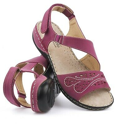 Womens Flat Wedge Heel Wide Fit Touch