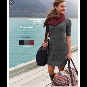Athleta-Strata-Charcoal-Gray-Dress-XS