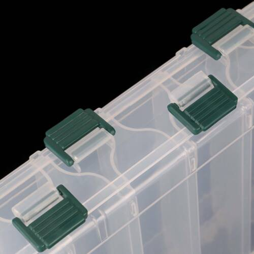 Transparent Two-Sided Fishing Lure Bait Hooks Tackle Waterproof Storage Box