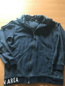 Details zu Sweatjacke Jacke Sweatweste s.Oliver Jungen Gr. L 164 blau mit Kapuze