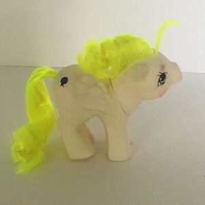 My-Little-Pony-Baby-Surprise-MLP-1980s-Toy-1987-G1-Vtg-Balloon-Neon-Yellow-Hair