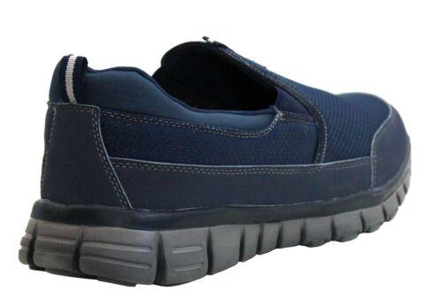 Homme Mousse à Mémoire de Forme Slip On été Go Walk Get Fit Escarpins Léger Baskets Chaussures