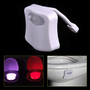 Led nachtlicht toilette badezimmer bewegungs sitz sensor lampe licht night light ebay - Led lampe badezimmer ...