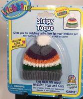 Webkinz Pet Clothing Stripy Toque Beanie Hat W/code By Ganz Fits Most