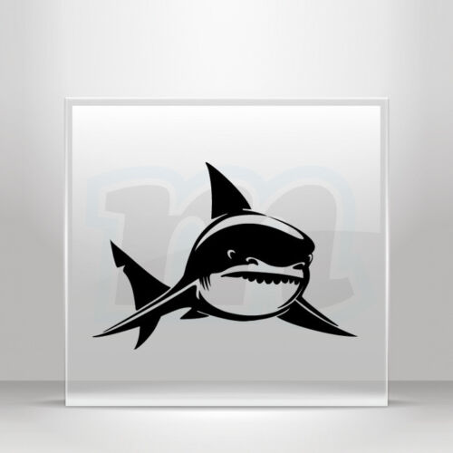 Sticker Decal Shark hungry attack bite surf menace Vehicle A19 3XW8W