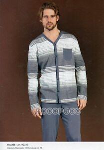 92349 Pyjamas Ouvert Homme Manches Longues Coton Chaud Vous 365 Art Vêtements, Accessoires