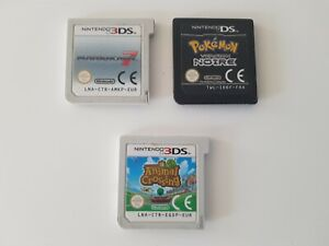 lot 3 jeux 3ds ds pokemon noir mario kart 7 animal crossing