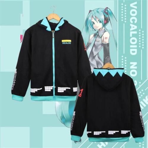 Japanese Anime Vocaloid Miku,Hoodie Jacket Coat Unisex Cosplay Costume