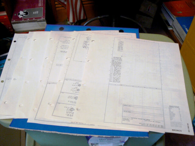 Diagram  1982 Ford Bronco Manual Wiring Diagram Full