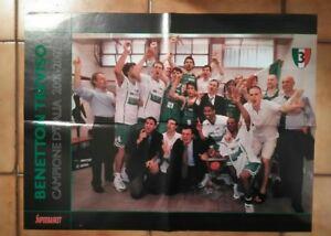 MAXI-Poster-BENETTON-TREVISO-CAMPIONE-D-039-ITALIA-2001-2002-SUPERBASKET