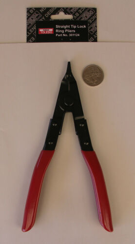 "LOCK RING CIRCLIP PLIERS STRAIGHT TIP 9"" 225mm FAMOUS TOLEDO QUALITY"
