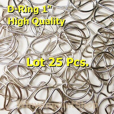 "Lot 25 50 100 Pcs. 1"" One Inch D Rings Webbing Strapping Dee Rings High Quality"