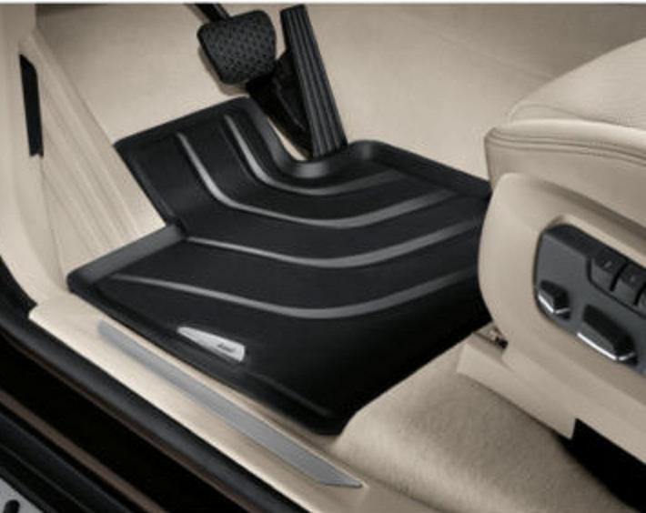 Element EXP.NLC.05.15.210kh Premium Anti-Slip Rubber Floor Mats for BMW X1 Year 09-15 Black