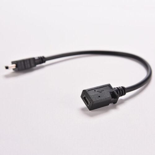 MINI USB B 5 PIN male plug to female jack extension data adapter cord cable JKU