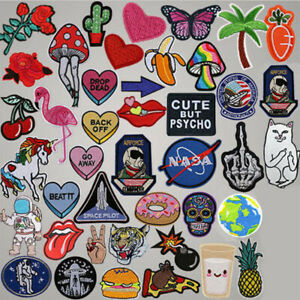 NEW Embroidered Sew Iron On Patch Badge Hat Bag Fabric Applique Clothes Craft AU
