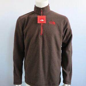 cfa2256fc587 THE NORTH FACE Men s Glacier 1 4 Zip 100 WT Fleece Jacket Coffee ...