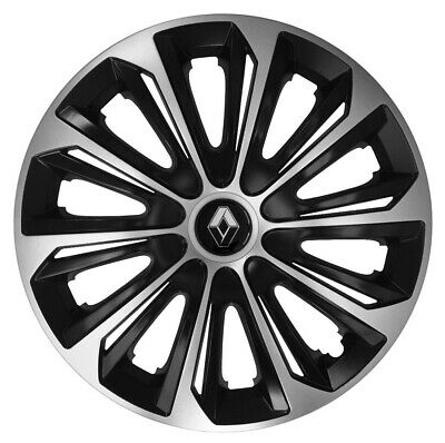 "16/"" be Adornos Tapacubos Ajuste Renault Master 2010-on 4x16 pulgadas plata-negro"