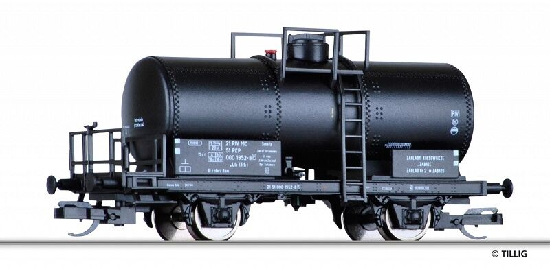 Tillig 95851 - voie TT - Wagon-citernes Type de construction UH Le PKP ,ep. IV -