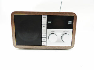 Digitalradio-RDS-PLL-Radio-Tuner-Dual-DAB-32-Holz-Optik-B-Ware-ohne-OVP-BA