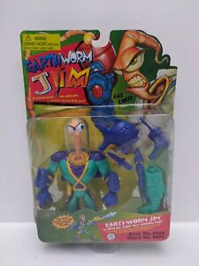 Vintage-Earthworm-Jim-1995-Item-8603-See-Pictures-amp-Marks-on-Toy-Sealed
