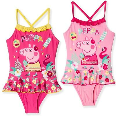 Girls Official Licensed Peppa Pig Swim WearSwimming CostumeSwimsuit