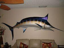 "120"" Blue Marlin Half Mount Fish Replica Taxidermy"