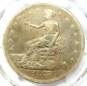 1875-CC Trade Silver Dollar T$1 - PCGS VF Details - Rare Carson City Coin!