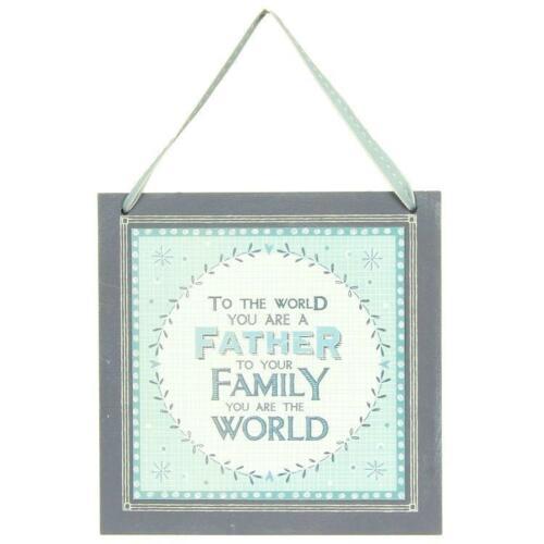 Père cadeau-pour le monde père suspendu la plaque par East of india 811 EOI