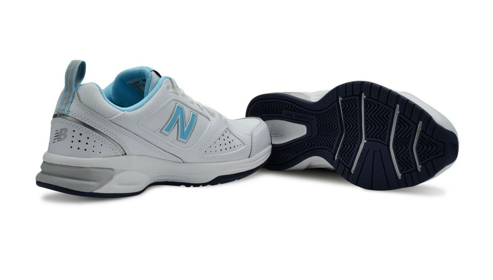 SPECIAL New Balance WX624WB Womens Crosstraining shoes (D) (White bluee)