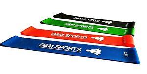 D-amp-M-SPORTS-Elastiche-Fitness-Set-di-4-Banda-Elastica-Fasce-Resistenza-per-Fitnes